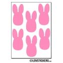 48 lapins de 2 cm - Gommette Deco - Repositionnable