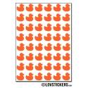 384 canards de 1 cm - Gommette Deco - Repositionnable