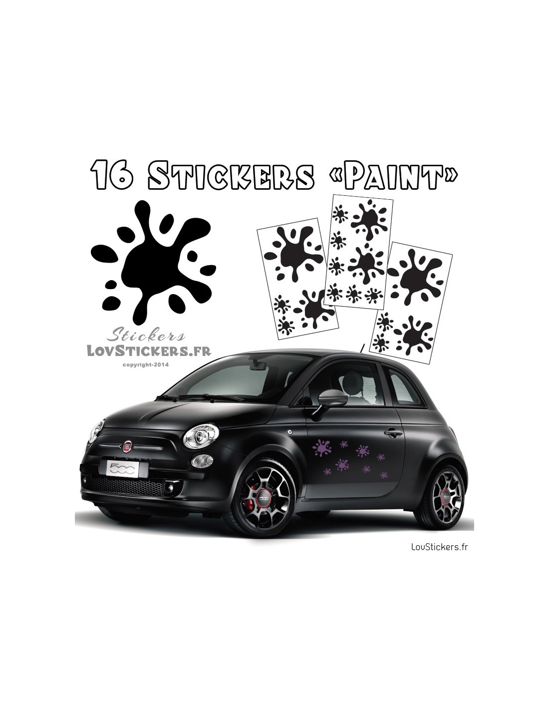 16 stickers tache de peinture deco 9 99. Black Bedroom Furniture Sets. Home Design Ideas
