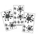 16 Stickers Tache de Peinture Deco