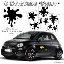 8 Stickers Tache de Peinture Deco