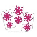 6 Stickers Tache de Peinture Deco