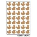 280 canards de 1,2 cm - Gommette Deco - Repositionnable