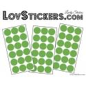 54 Stickers Ronds Mixte - Autocollant Décoration Intérieur