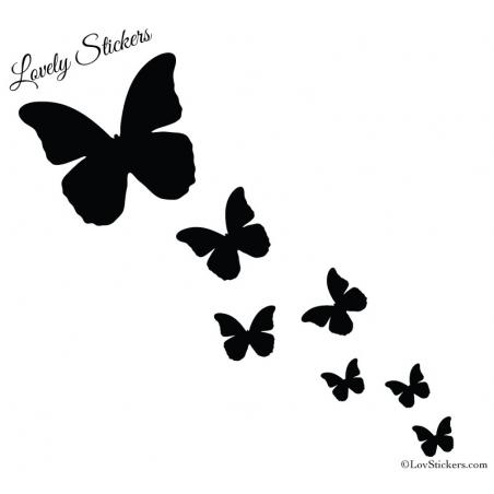 31 Stickers Papillons 2 à 10 cm
