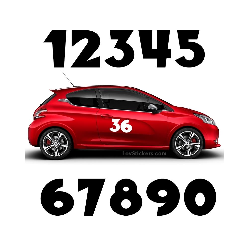 2 Nombres - Font 002 - Nombre adhesif Racing Auto Moto Quad