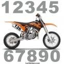 2 Nombres - Font 001 - Nombre adhesif Racing Auto Moto Quad