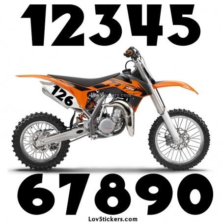2 Numeros - Font 002 - Nombre adhesif Racing Moto Quad VTT