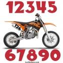 2 Nombres - Font 002 - Nombre adhesif Racing Moto Quad VTT