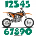 2 Numeros - Font 003 - Nombre adhesif Racing Moto Quad VTT