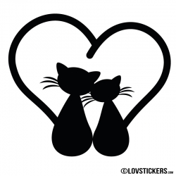 Sticker couple de chat