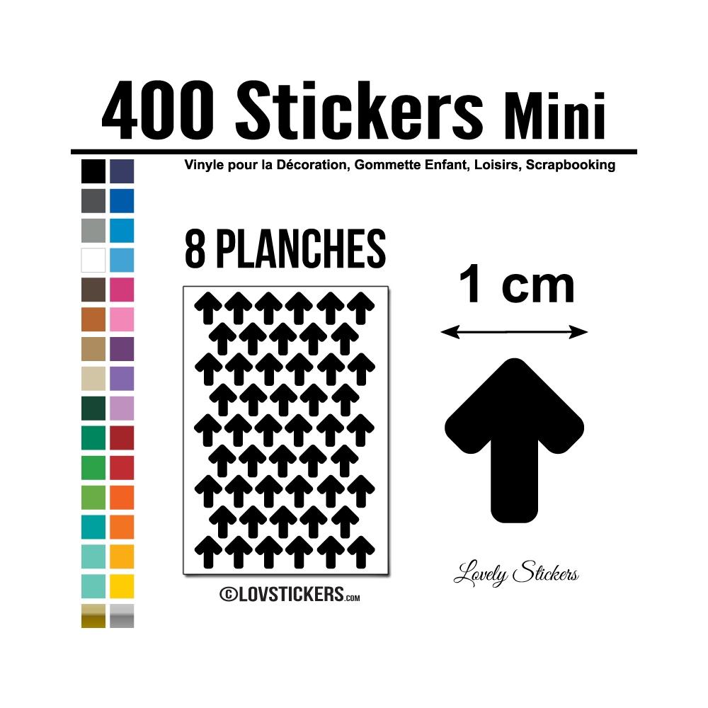 500 Flèches 1 cm - Gommette Deco - Repositionnable