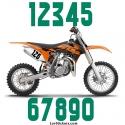 2 Numeros - Font 004 - Nombre adhesif Racing Moto Quad VTT