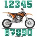 2 Numeros - Font 005 - Nombre adhesif Racing Moto Quad VTT