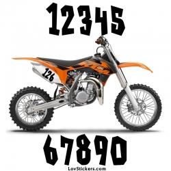 2 Numeros - Font 006 - Nombre adhesif Racing Moto Quad VTT