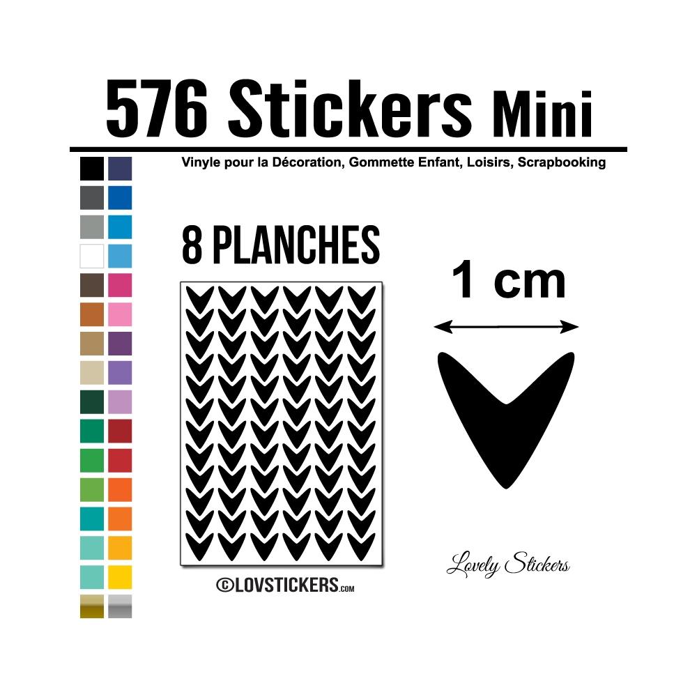 576 Flèches 1 cm - Gommette Deco - Repositionnable