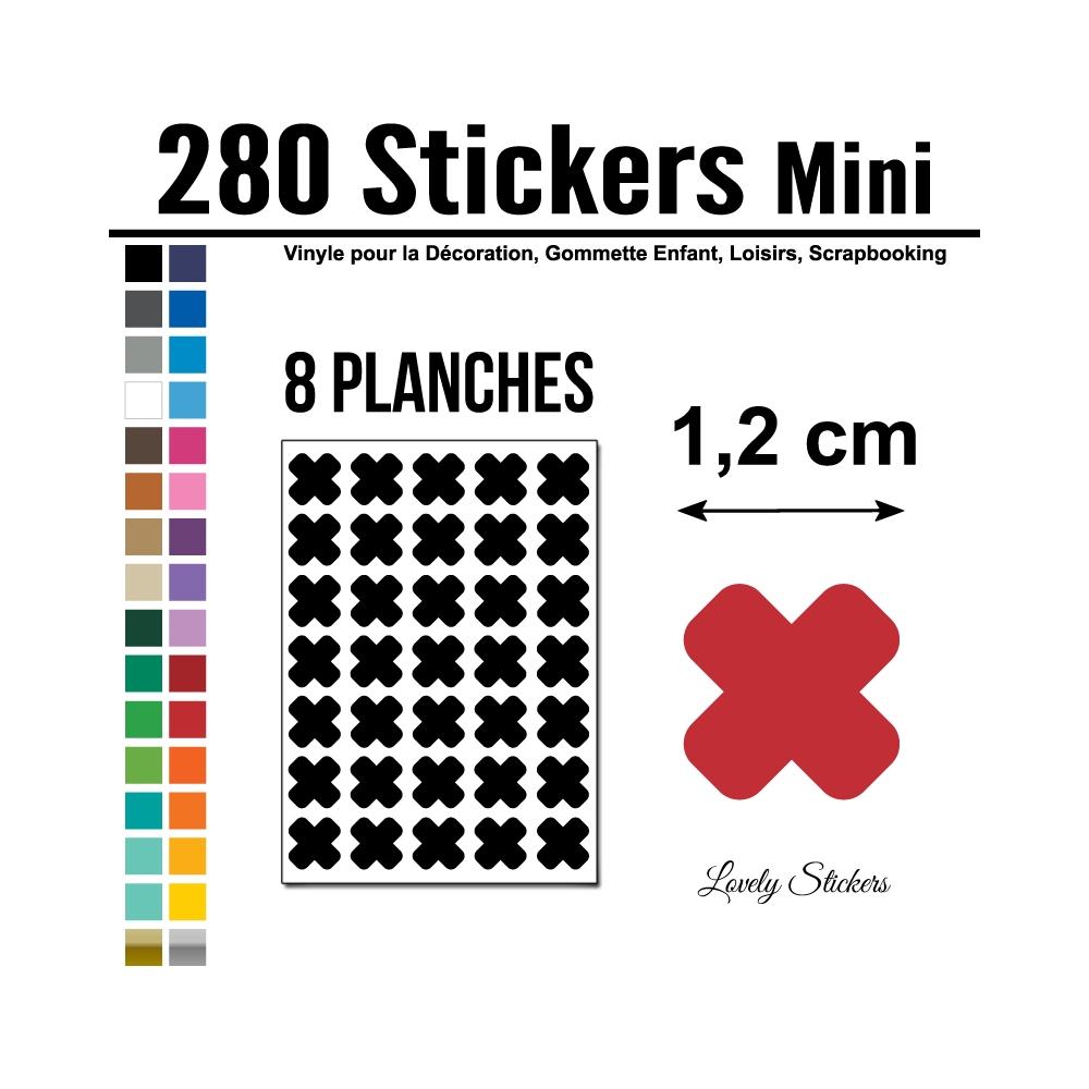 280 Croix 1,2 cm - Gommette Deco - Repositionnable