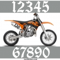 2 Numeros - Font 008 - Nombre adhesif Racing Moto Quad VTT