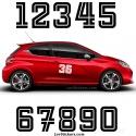 2 Numeros - Font 005 - Nombre adhesif Racing Auto Moto Quad