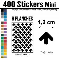 576 Flèches 1 cm - Motif 5 - Gommette Deco Repositionnable