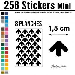 256 Flèches 1,5 cm - Motif 5 - Gommette Deco Repositionnable