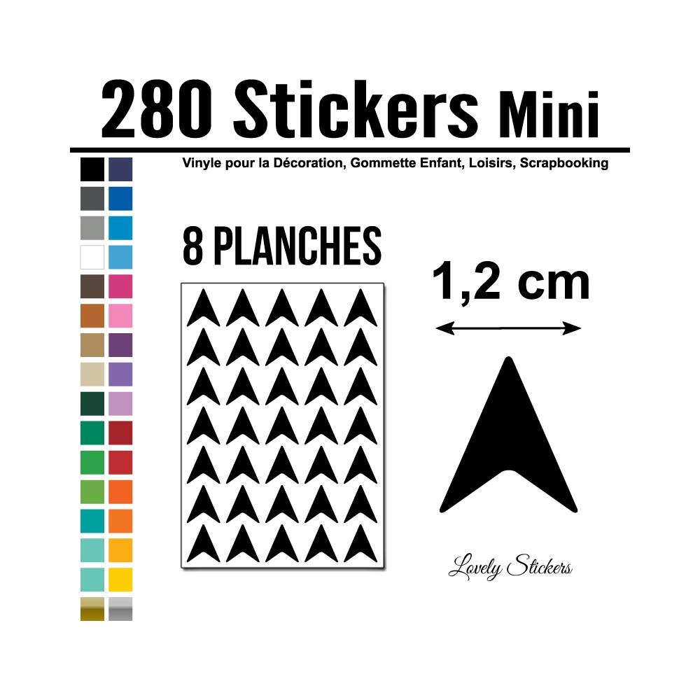 280 Flèches 1,2 cm - Motif 6 - Gommette Deco Repositionnable