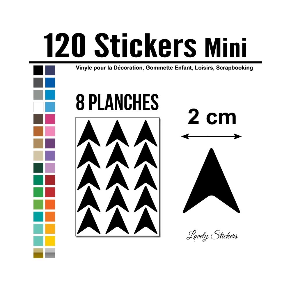 432 Flèches 2 cm - Motif 6 - Gommette Deco Repositionnable