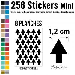 256 Flèches 1,2 cm - Gommette Deco - Repositionnable