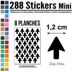 400 Flèches 1 cm - Gommette Deco - Repositionnable