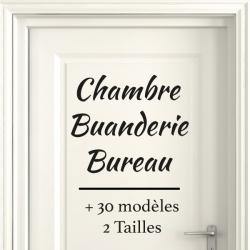 Sticker Porte pour la Maison - Typographie 01