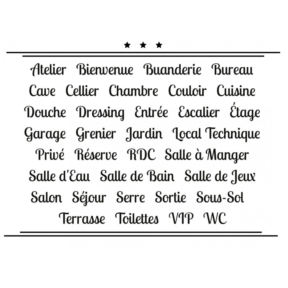 Sticker Porte pour la Maison - Typographie 02
