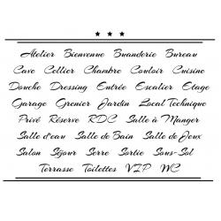 Sticker Porte pour la Maison - Typographie 04