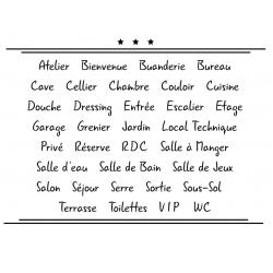 Sticker Porte pour la Maison - Typographie 05