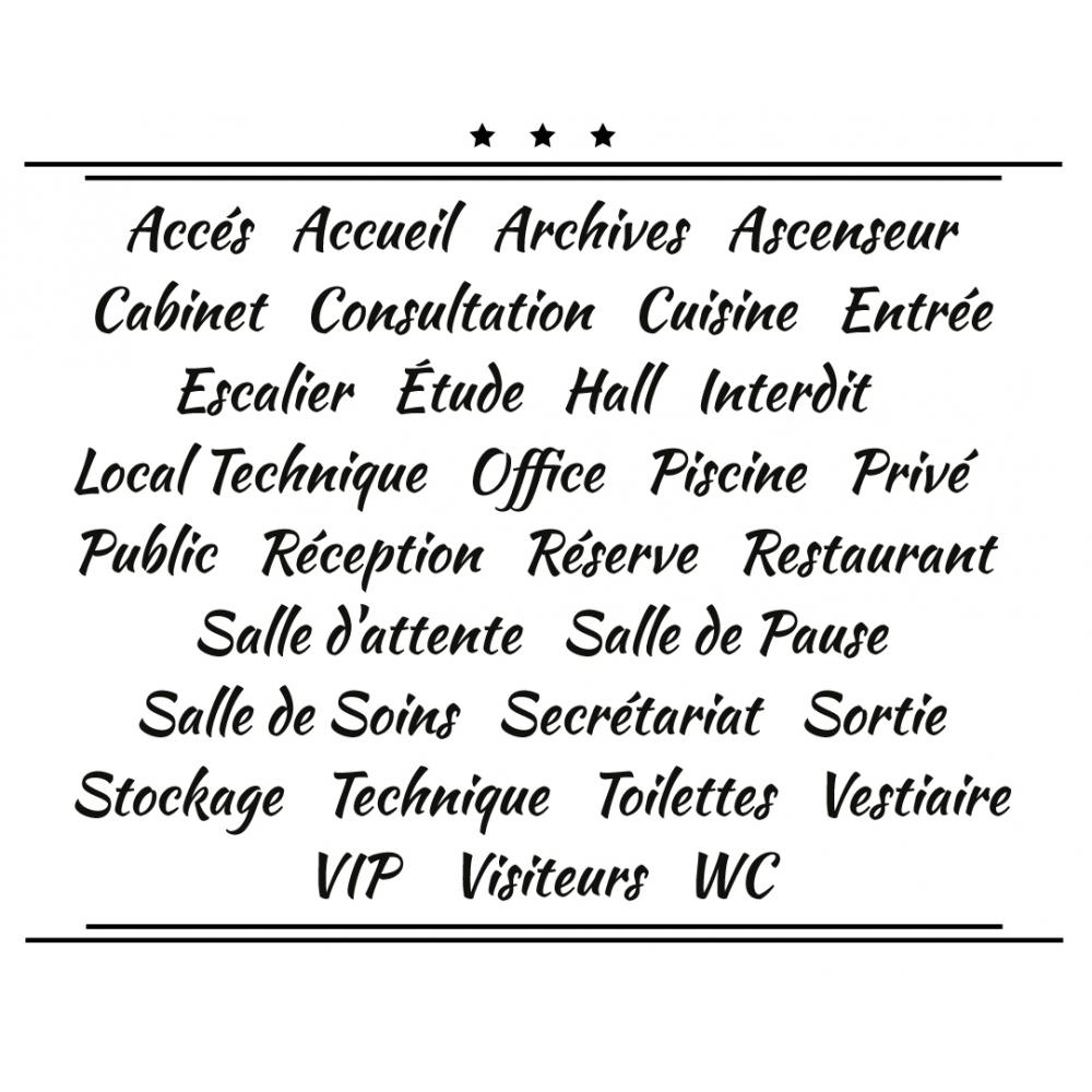 Sticker Porte pour Professionnel - Typographie 01