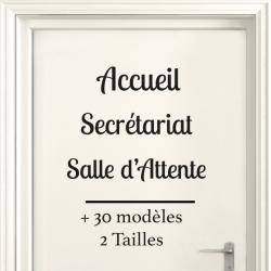 Sticker Porte pour Professionnel  - Typographie 02