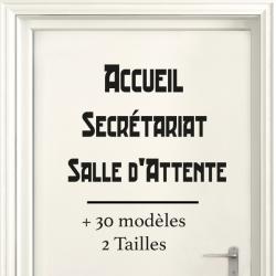 Sticker Porte pour Professionnel - Typographie 03
