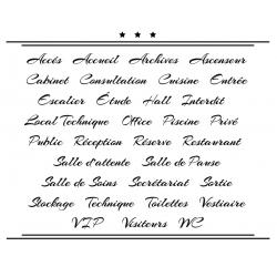 Sticker Porte pour Professionnel - Typographie 04