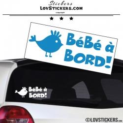 Sticker Bébé à Bord poussin - Sécurité enfant voiture