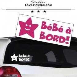 Sticker Bébé à Bord etoile - Sécurité enfant voiture