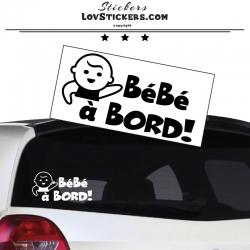 Sticker Bébé à Bord! - Bébé - Sécurité enfant voiture