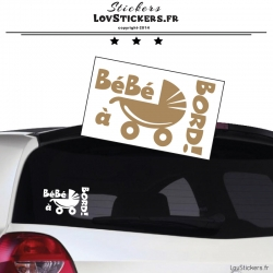 Sticker Bébé à Bord poussette - Sécurité enfant voiture