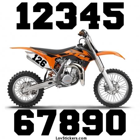 2 Numeros - Font 009 - Nombre adhesif Racing Moto Quad VTT