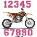 2 Numeros - Font 010 - Nombre adhesif Racing Moto Quad VTT