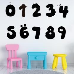 Stickers Chiffres - 10 Numeros Fantaisies pour enfants