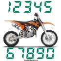 2 Numeros - Font 011 - Nombre adhesif Racing Moto Quad VTT