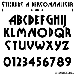 Font Pubz - Stickers lettres et chiffres adhesif - Autocollant voiture auto vitrine magasin