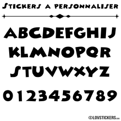 Font Block - Stickers lettres et chiffres adhesif - Autocollant voiture auto vitrine magasin