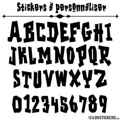 Stickers Font Gshok - Stickers lettres et chiffres adhesif - Autocollant voiture auto vitrine magasin