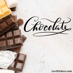 Stickers Calligraphie Chocolat