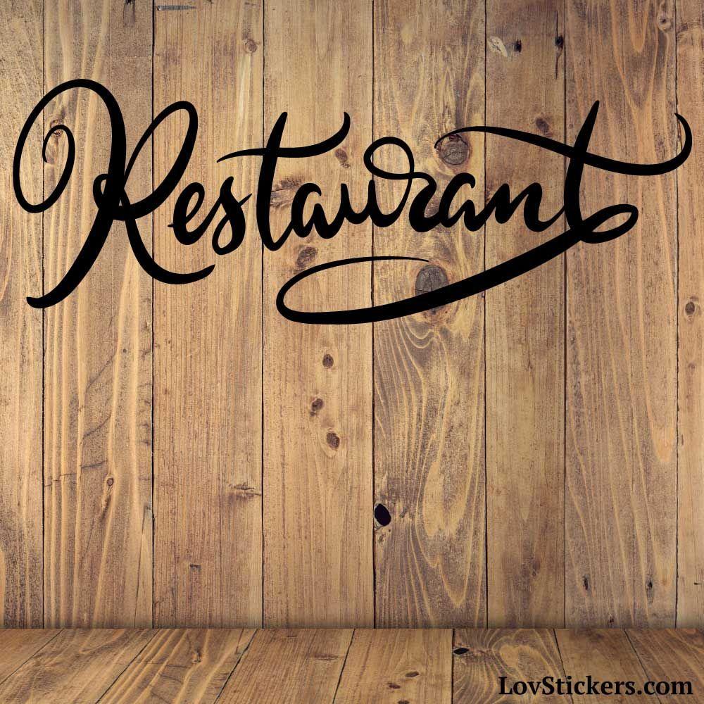 Stickers Calligraphie Restaurant - Modèle No 01